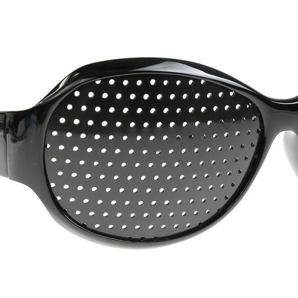 90786a1f13249 Oculos Pinhole Reticulados Ioga para Olhos Furadinho Preto Redondo