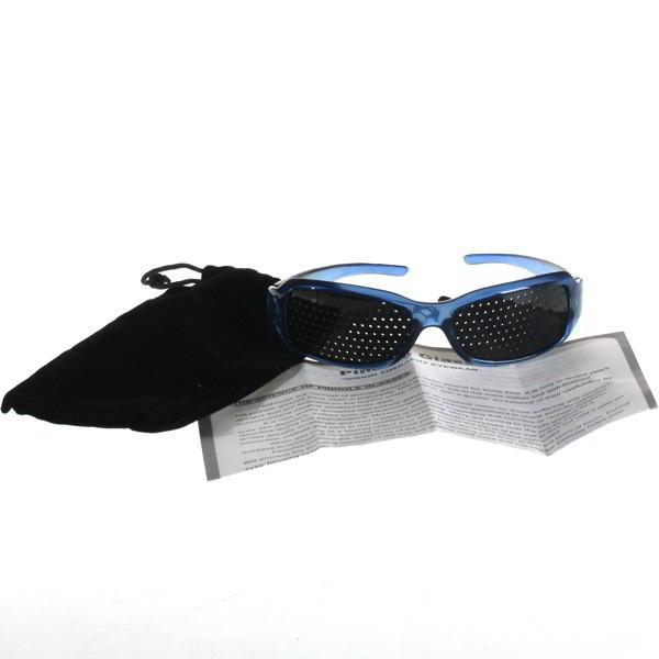 80dd3a9ee9fa2 Oculos Reticulado Pinhole Ioga para os olhos cor Azul Sport Plástico