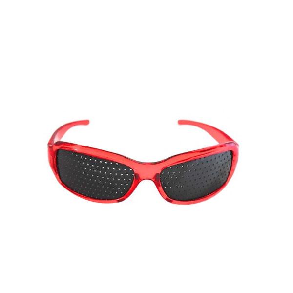 Gafas Estenopeicas Rojas Lentes Pinhole Estenopeicos Mejorar Vision