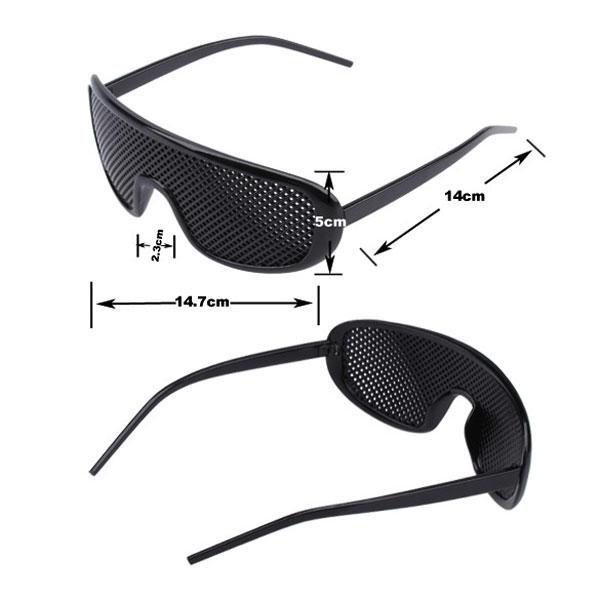9adcb300cd41e Oculos Pinhole Reticulados Melhora da Visão Goggles Preto Retro Plástico