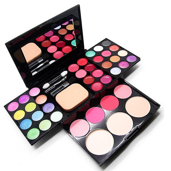 Paleta de Sombras con 39 colores Maquillaje Ojos Compacta con Estuche