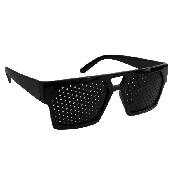 Pinhole Glasses for Eye Exercise Black Squared Stenopeic Eyeglasses
