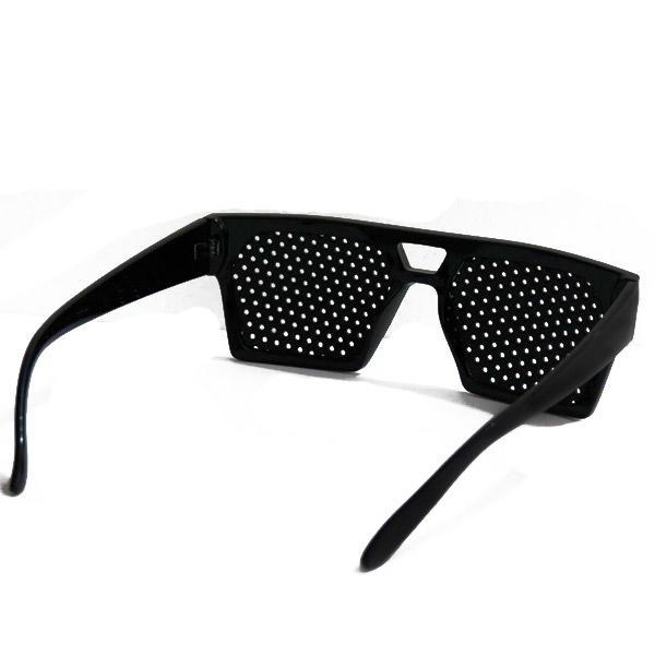 195a2e726b841 Oculos Reticulado pin hole com Furos Melhora da Visão Geek Preto