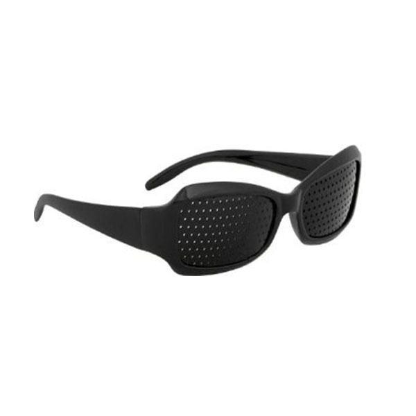 Pinhole Glasses for Vision Care Stylish Black Perforated Eyeglasses