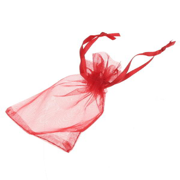 100x Red Organza Bags Wedding Gifts with Drawstring Jewellery