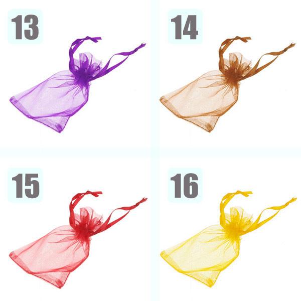 92af078be 100 Bolsitas de Organza para Regalos Detalles de Boda Joyas 17 Colores