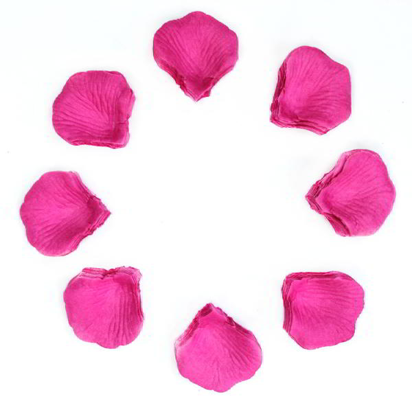 1000 Pink Rose Petals Confetti for Wedding Reception Table Decor