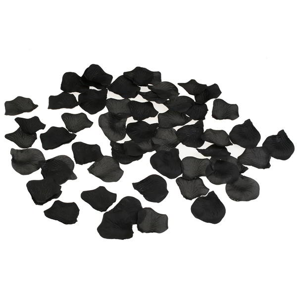 1000 Black Rose Petals for Confetti and Wedding Reception Decor