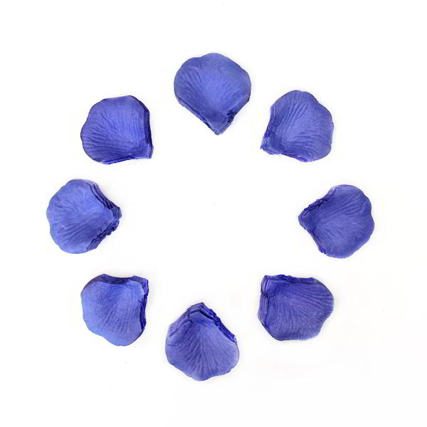 1000 Blue Rose Petals for Wedding Confetti Events Artificial Silk