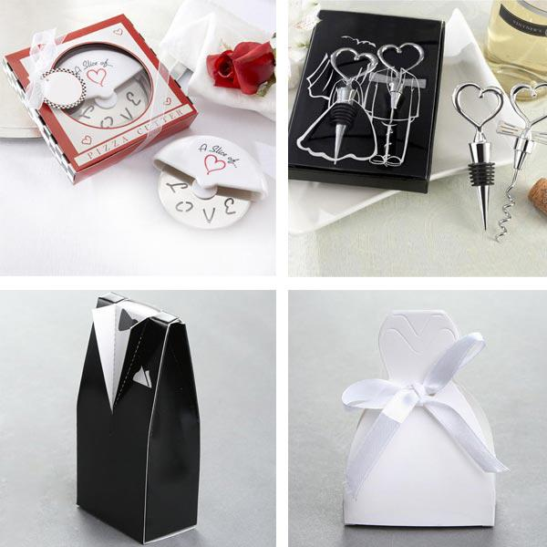 Wedding Favours Kit with 40 Gift Boxes Pizza Cutter and Bottle Stopper
