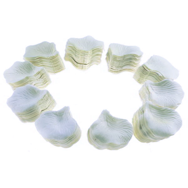 1000 White Rose Petals Confetti Wedding Deco Artificial Silk Petal