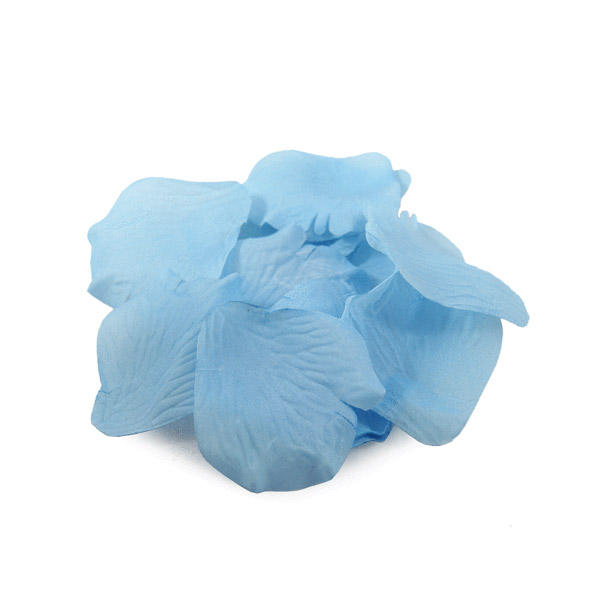 1000x Artificial Rose Petals Light Blue for Events Decor Party Wedding