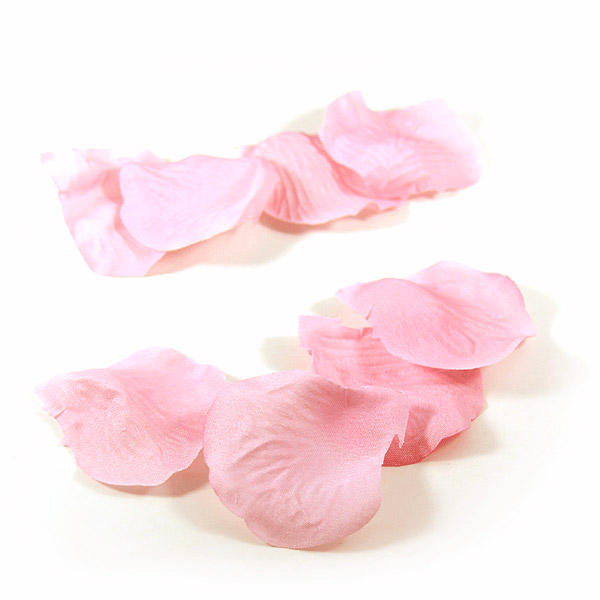 1000x Rose Petals Light Pink for Wedding Decor Gifts in Faux Silk