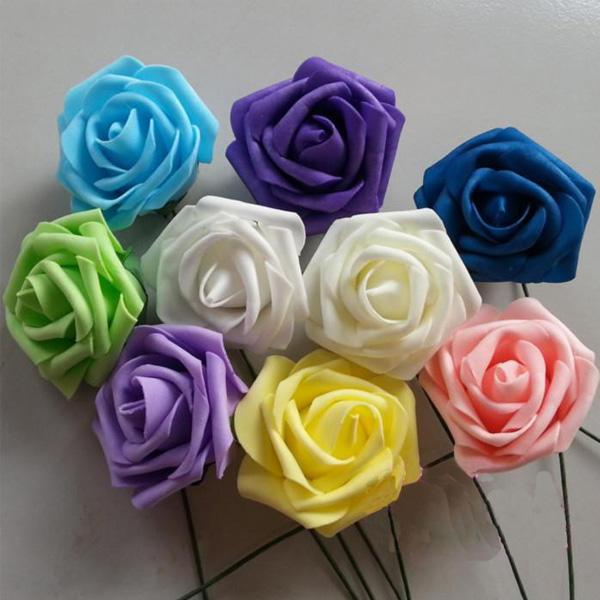 ... / Dutzend künstliche Rosen Blumenstrauß für Hochzeitsdekoration