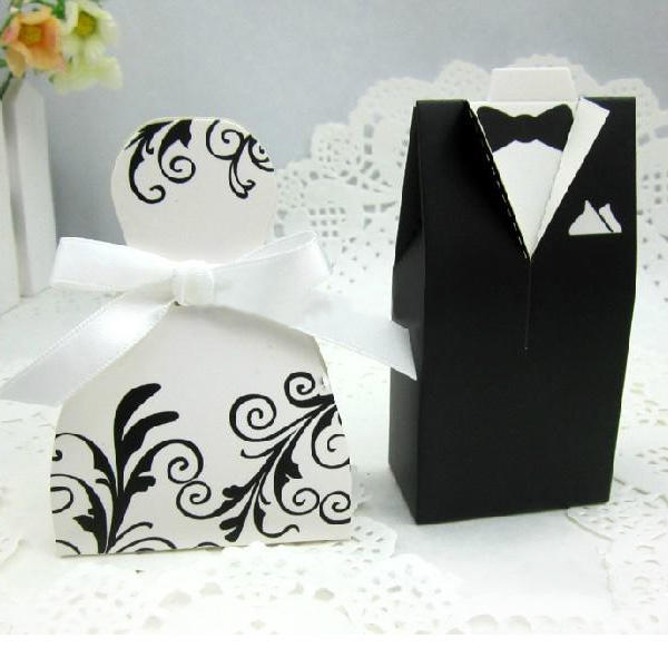 Wedding Gift For Bride From Groom Uk : Home / Bride and Groom Gift Box Set 20 Wedding Dress 20 Tuxedo Favors