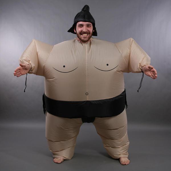 Disfraz Sumo Hinchable Traje Inflable Luchador Japones para Halloween