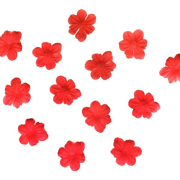Fleurs rouges artificielles tissu x1000 d coration eglise for Fleurs artificielles tissu