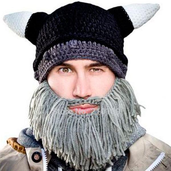 vasto assortimento vendita scontata immagini ufficiali Cappello Vichingo con Barba Berretto Uncinetto Costume Halloween