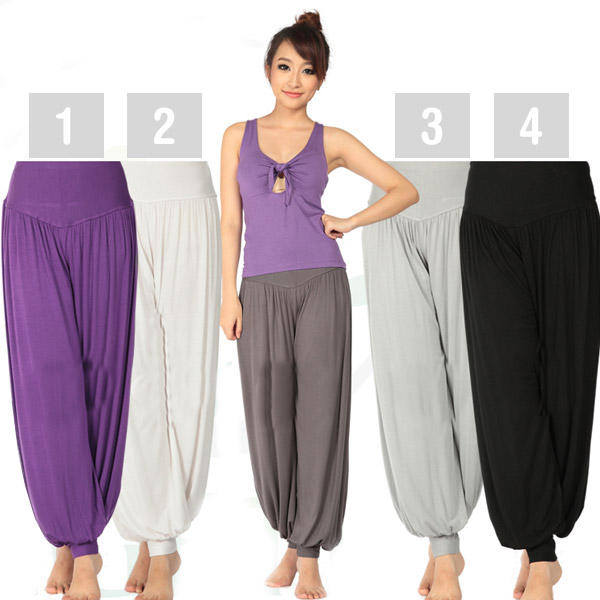 Yoga Pants for Women Harem Trousers Dancewear in Modal Fabric - M L XL