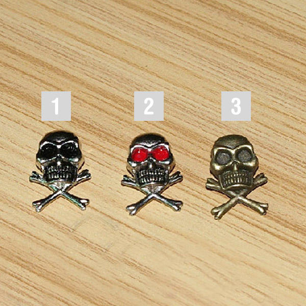 100 Skull Studs Crossbones Rivets for DIY Clothing Shoes Rocker Punk