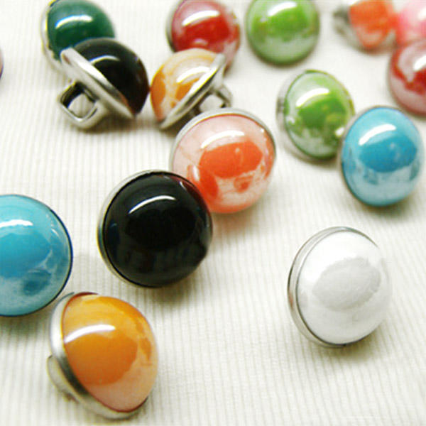 200x Round Buttons Pearls Flatback in Copper 10mm for DIY - Mixed Pack
