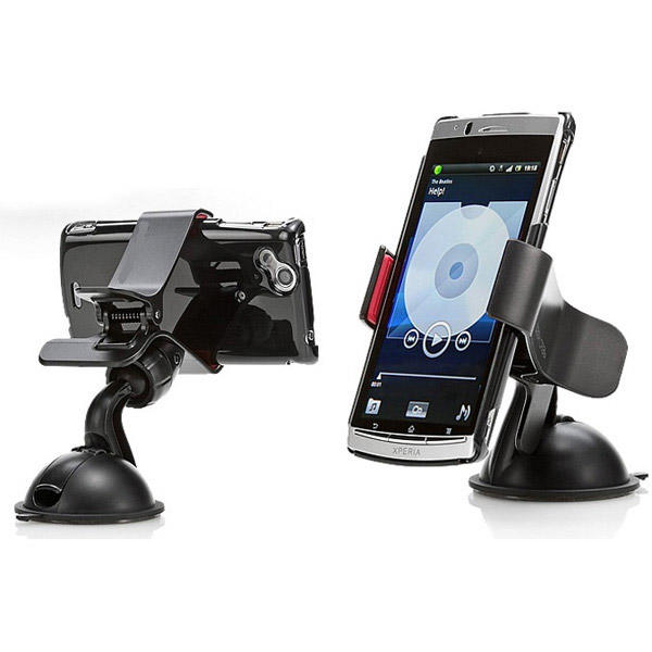 Mobile Phone Car Mount Holder for Windshield Dashboard Suction 360º