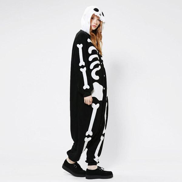 9ae3cf1c2e Costume da Scheletro per Halloween Cosplay Pigiama Onesie S M L XL