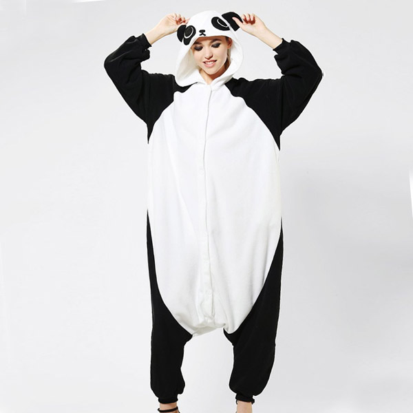Panda Costume Adult Onesie Kigurumi Babygro for Fancy Dress Cosplay