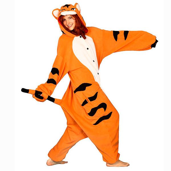 Costume de tigre de bengale pyjama thermique tissu polaire - Tigre polaire ...