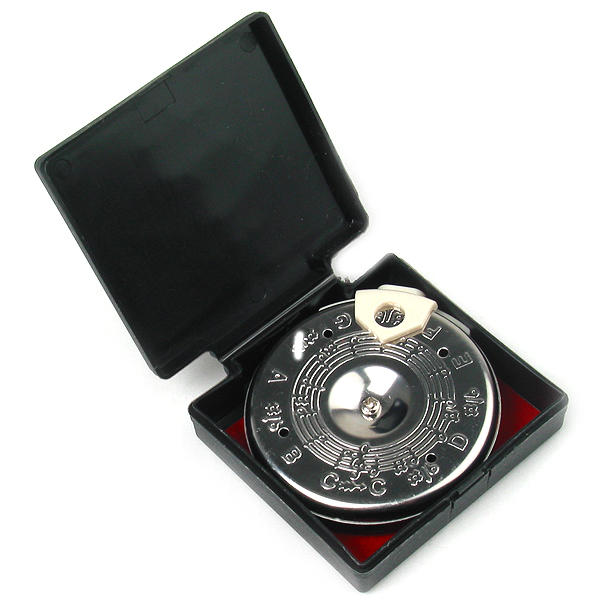 13 Tone Pitch Pipe Tuner Portable for Music Teacher Student in Case