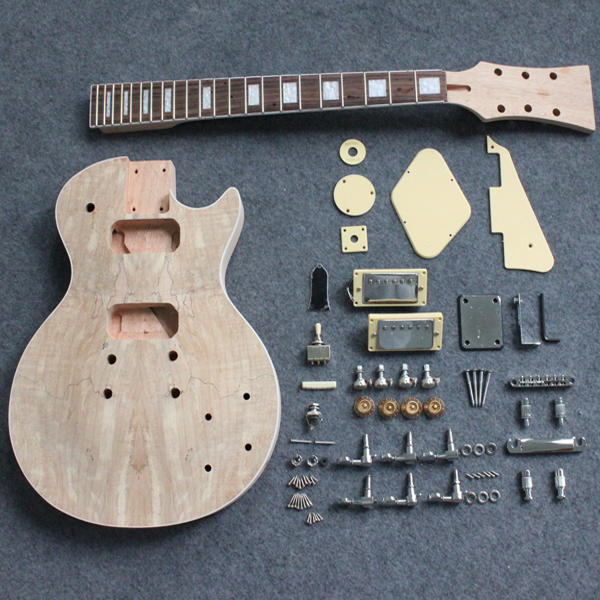 Kit Guitarra Electrica Bricolaje Para Armar Chapa De Maple
